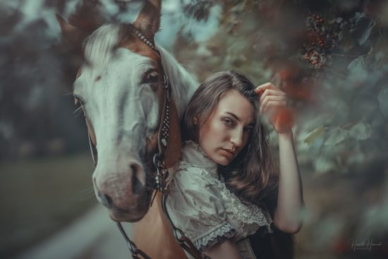 Shooting Frau mit Pferd