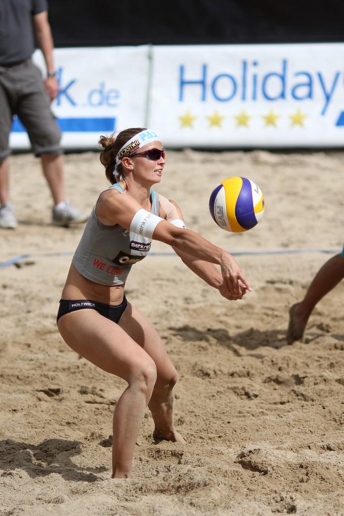 Aufnahme Beach-Volleyball