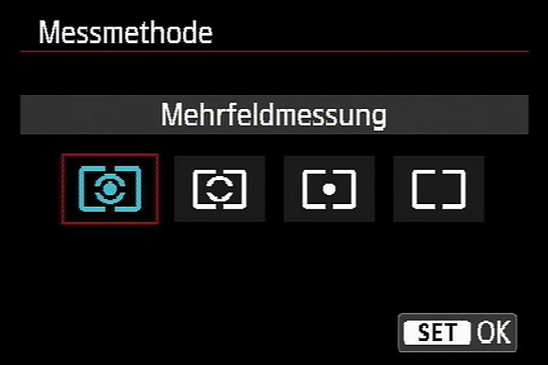 Belichtungsmessung, Messmethode, Mehrfeldmessung