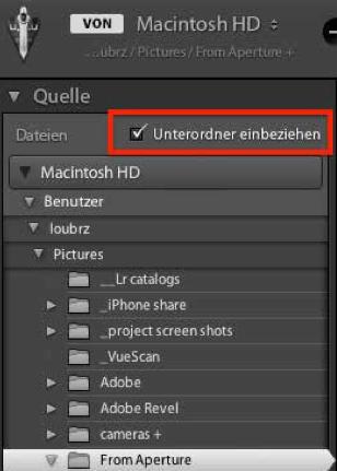 Umstieg von Aperture zu Adobe Lightroom
