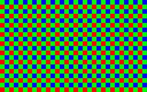 Der Bayerpattern sorgt für Farbe im Bild.