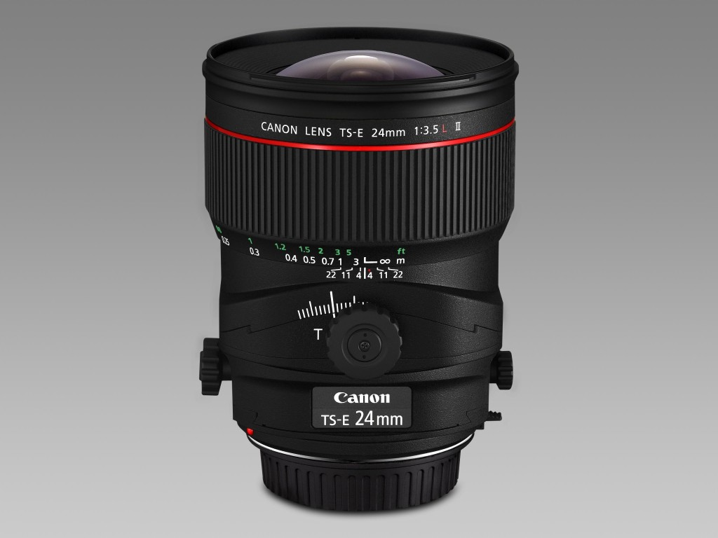 Canon hat eine ganze Serie von T/S-Objektiven im Programm. Hier das TS-E 24 mm 1:3.5L II. (Foto: Canon)