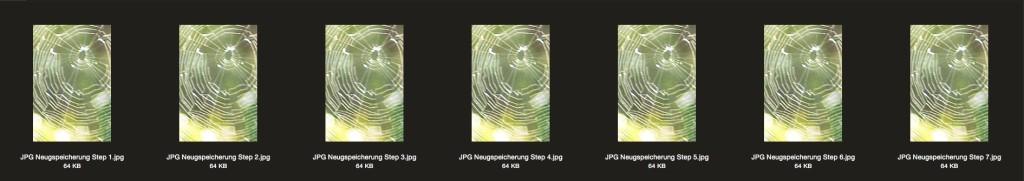Neuspeicherung im JPG-Format