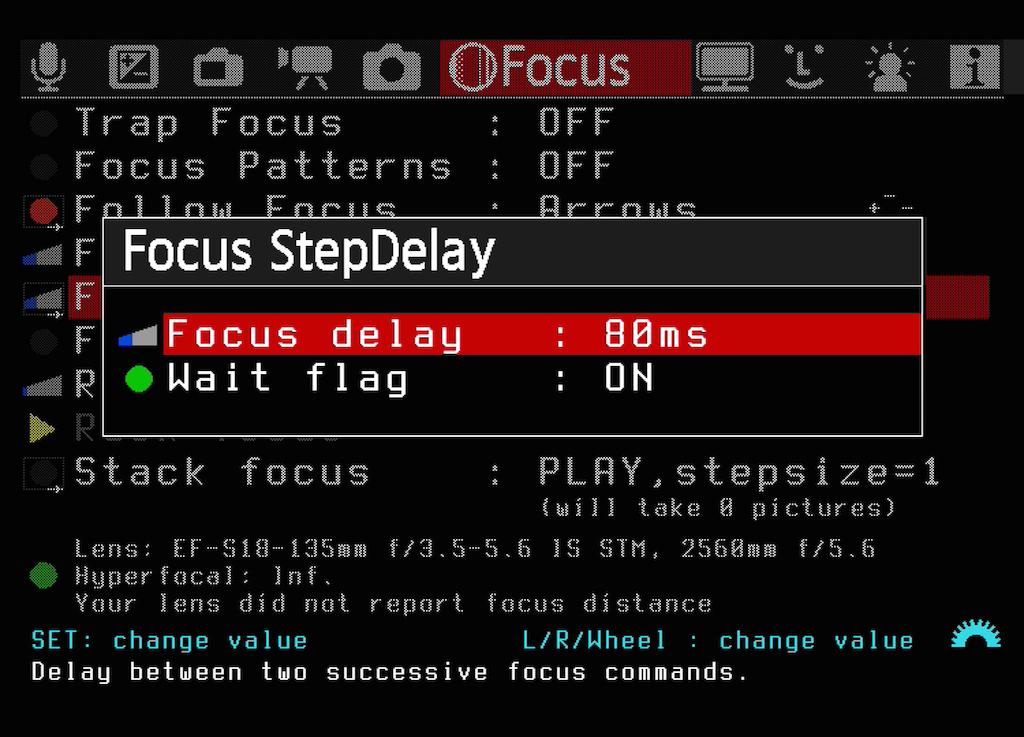Ihr könnt das Intervall zwischen einzelnen Fokusschritten manuell festlegen.