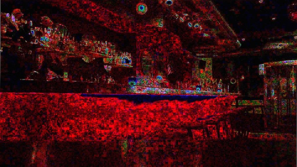 Die Unterschiede der einzelnen Frames lassen sich bildlich darstellen. Einige Störungen lassen sich auf die Kompression in JPEG zurückführen. Gut zu erkennen ist, dass sie sich über das ganze Bild verteilen.