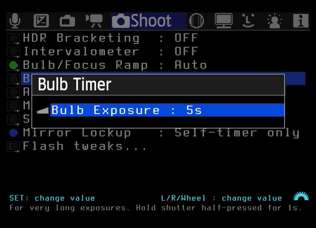 Die Funktion Bulb Timer