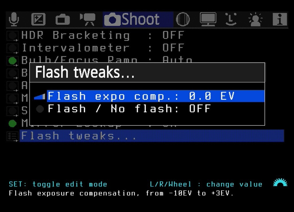 Die Option Flash Tweaks