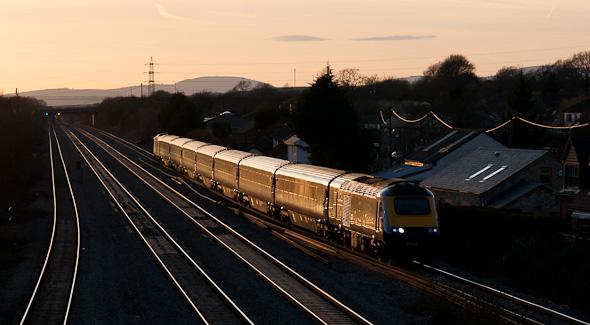 Die Welt der Bahn bietet eine Reihe besonderer Fotomöglichkeiten. (Wales – bei Newport)