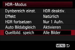 HDR-Funktion verschiedene Bezichnungen: 3
