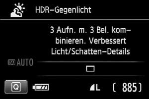 HDR-Funktion verschiedene Bezichnungen: 1