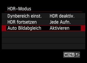 HDR-Funktion verschiedene Bezichnungen: 2