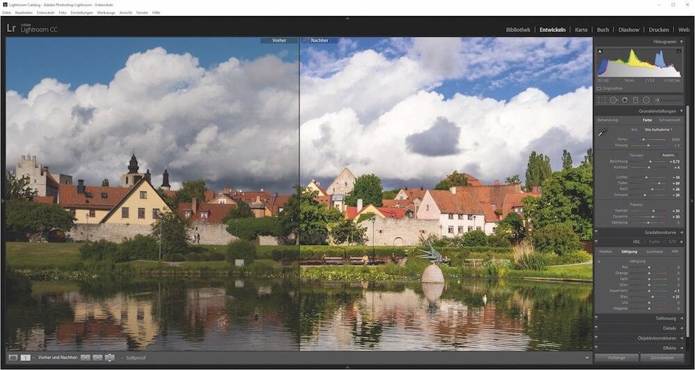 Bildbearbeitung einer RAW-Datei