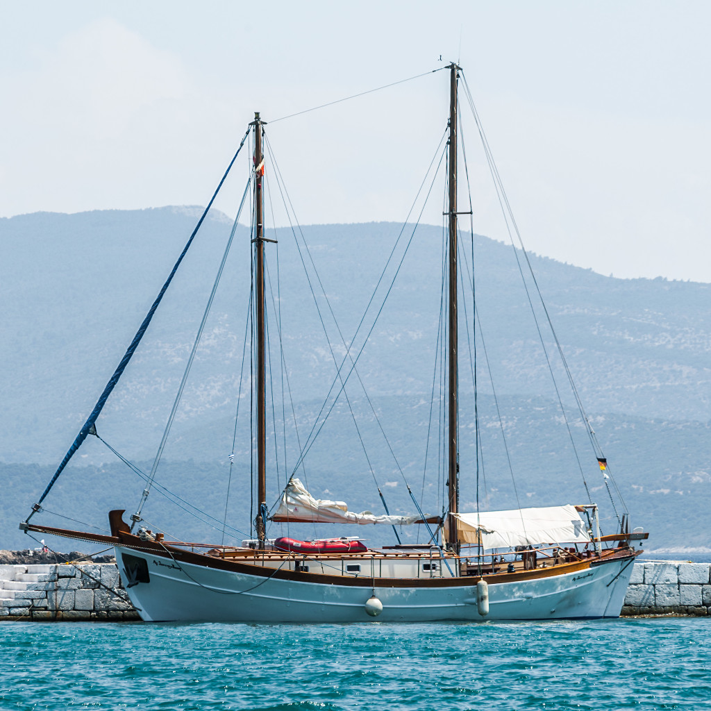 Hochformat – Segelboot