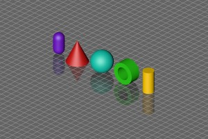 Spiegelung – Objekte Quer Isometrisch