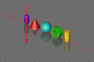 Spiegelung – Objekte Quer Isometrisch Pfeile
