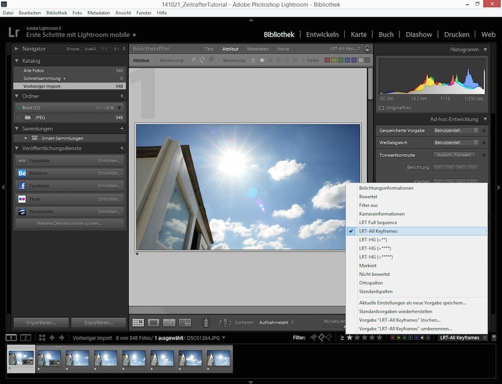 5_Filter-Key-Frames-setzen
