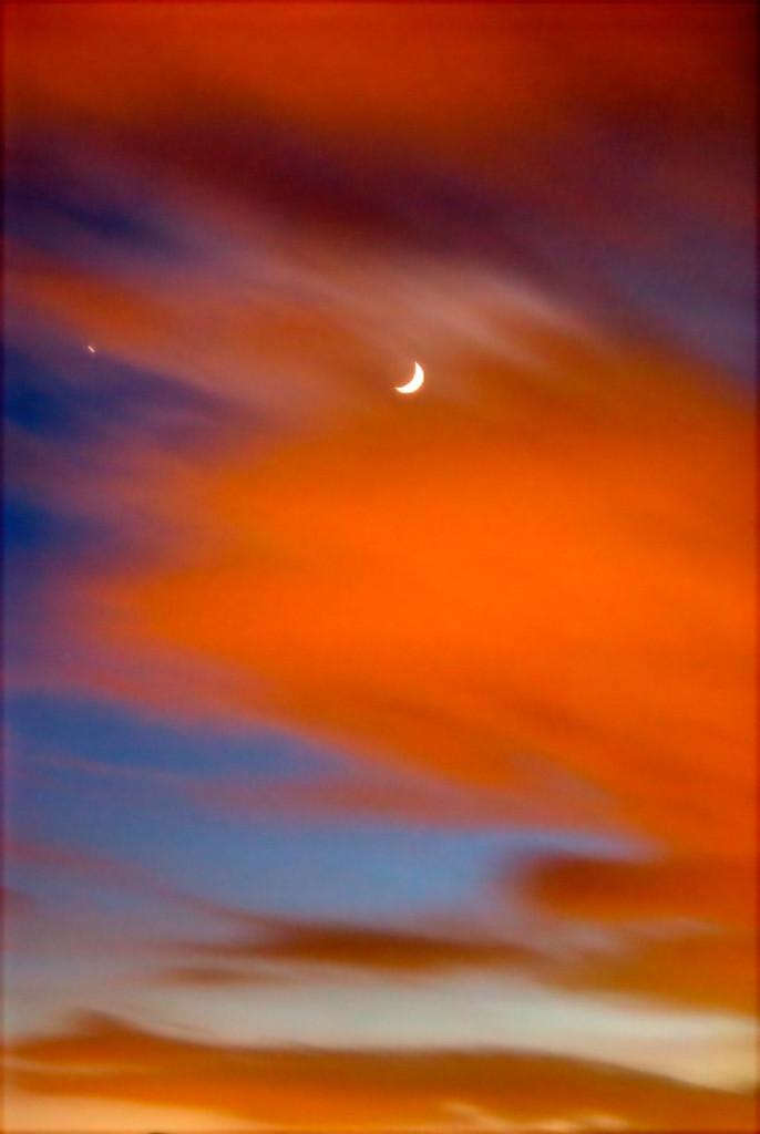 Farbenstiver Himmel