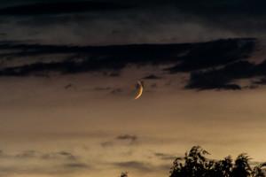 Mond und Wolken im Zusammelspiel – 1