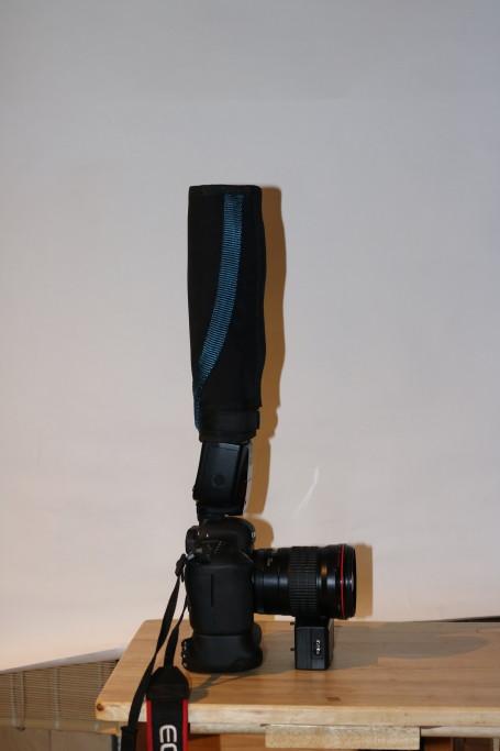 Flashbender Spot gegen Decke