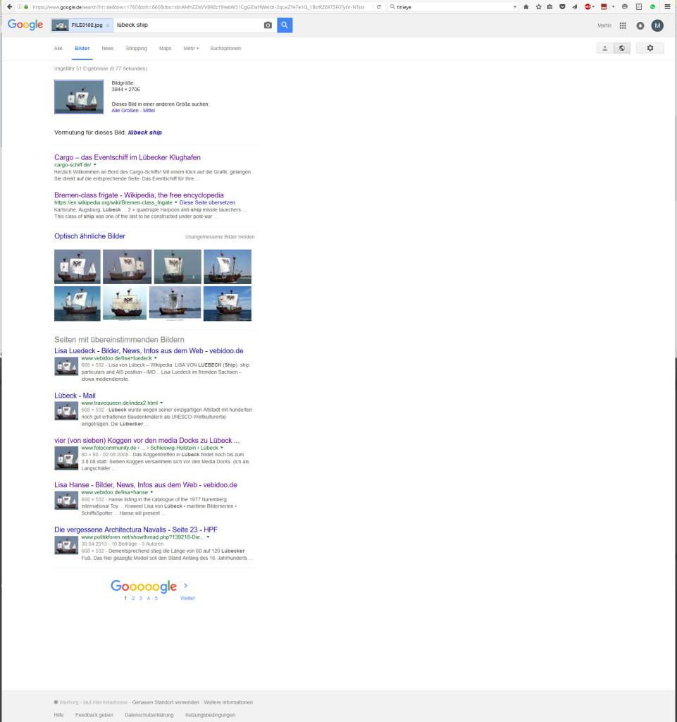 Bilderklau: Suchergebnisse Schiff
