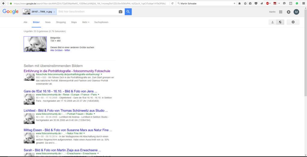 Bilderklau: Suchergebnisse