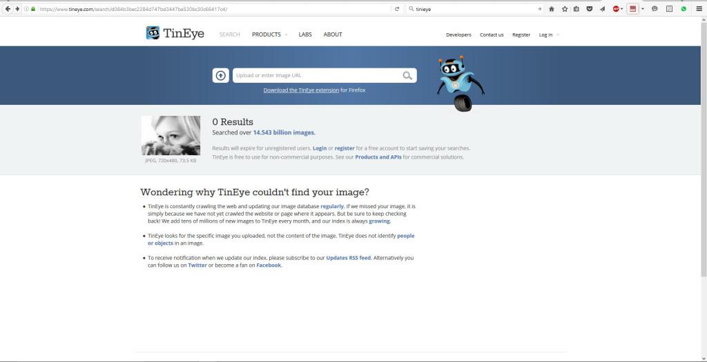 Bilderklau: Recherche via TinEye 2