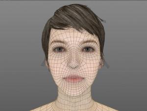 Gesicht Vectorisierung Frau
