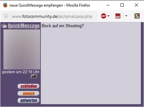 Screenshot aus Nachrichtendienst