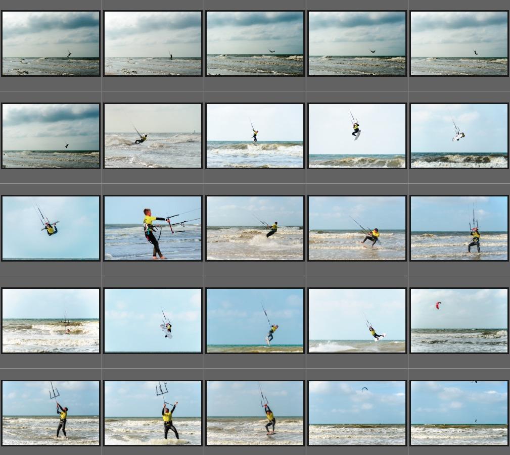 verschiedene Aufnahmen am Strand