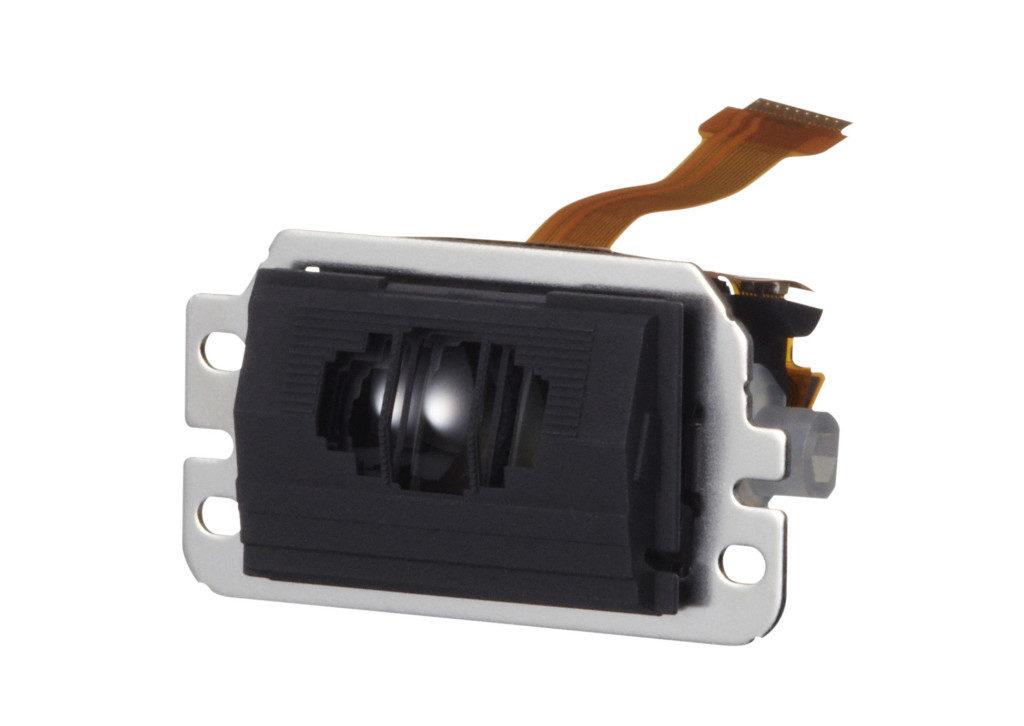 Ein typisches AF-Modul einer DSLR. In den Schlitzen kann man die dahinter liegenden Teilerlinsen erahnen.