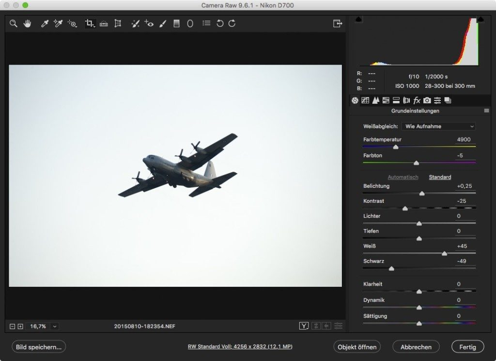 Flugzeug-Beispiel