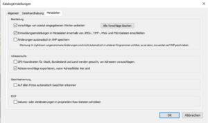Grundeinstellungen-Lightroom-Metadaten-Windows