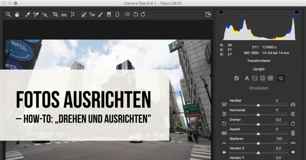 """Fotos ausrichten: How-To: """"Drehen und Ausrichten"""""""
