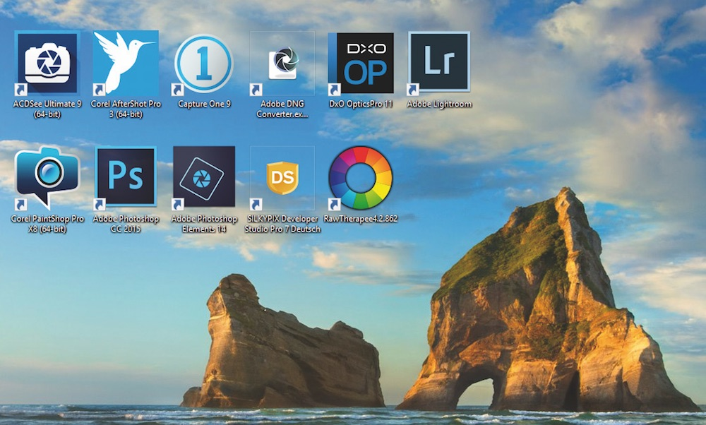 Qual der Wahl: Viele Programme bearbeiten RAW-Dateien mit unterschiedlichen Ergebnissen.
