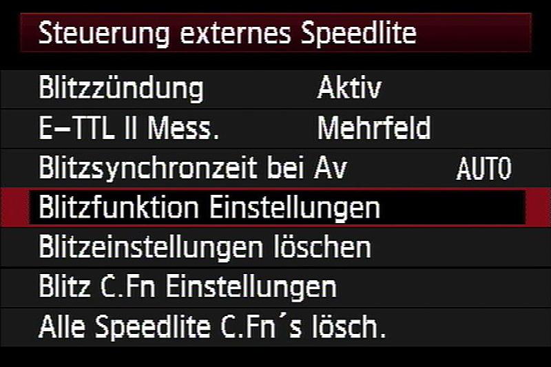 Steuerung externes Speedlite