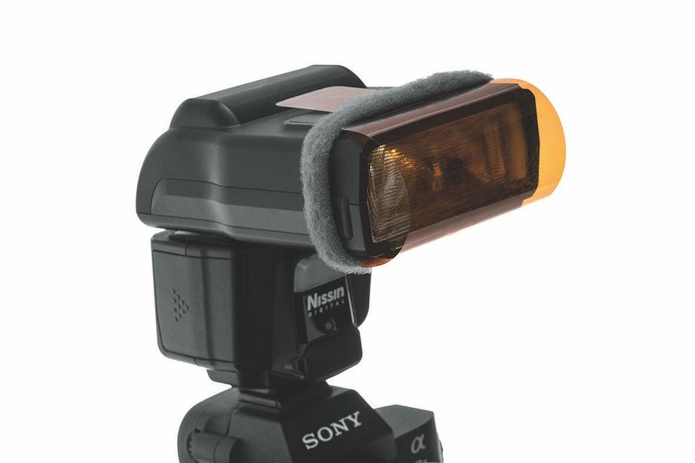 Nissin i60A mit Filterfolie