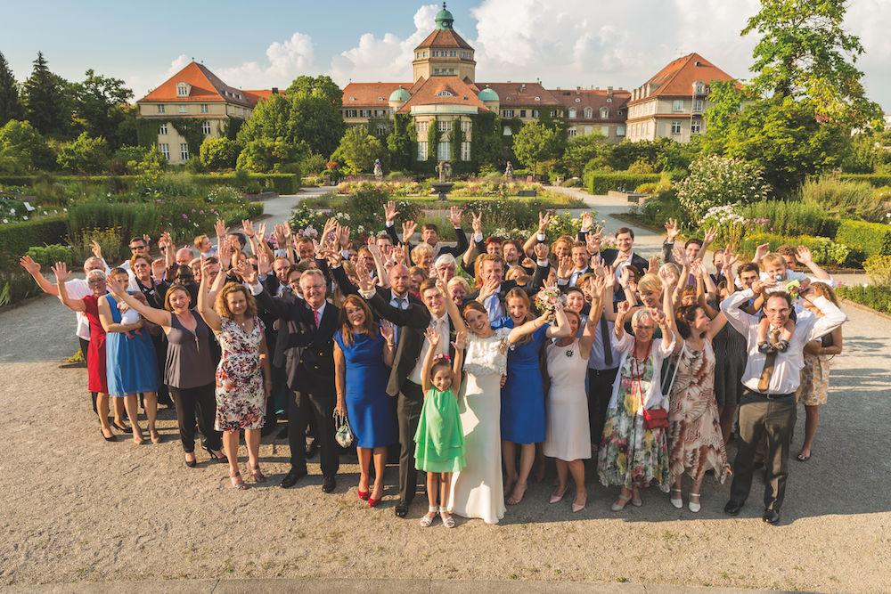 Hochzeitsgesellschaft fotografieren