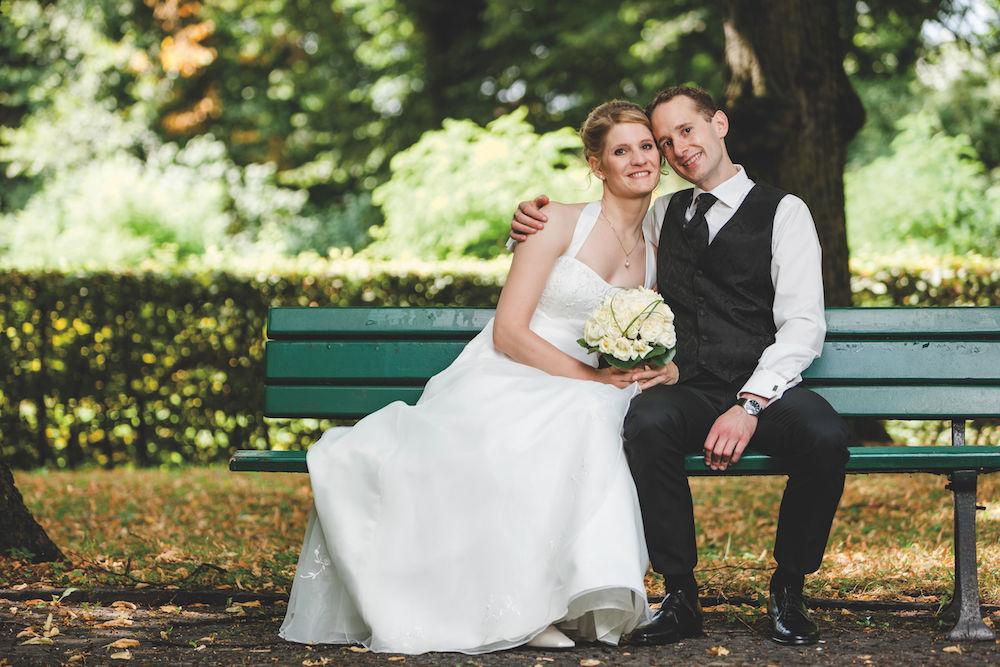 Hochzeitsfotografie: Brautpaar outdoor