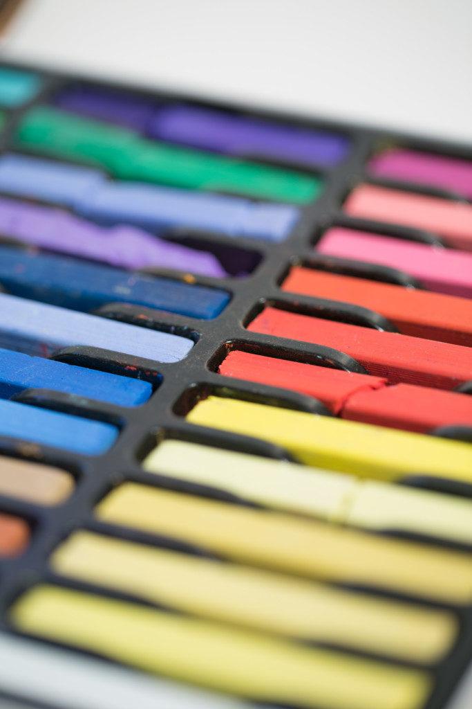 Farbige Kreide-scharf