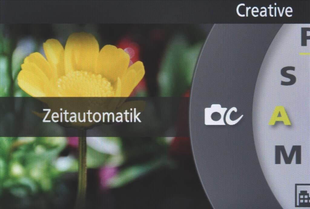 Zeitautomatik mit Blendenvorwahl