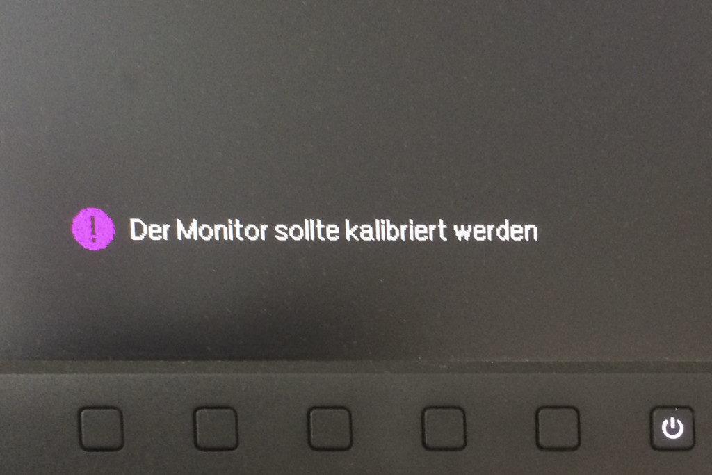 Hinweis: Der Monitor sollte kalibriert werden