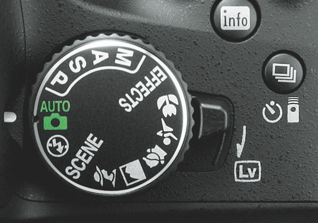Moduswahlrad Nikon D5200