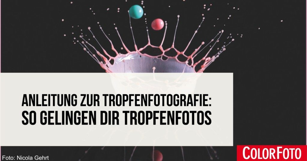 Anleitung Tropfenfotografie