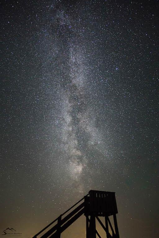 Milchstraßenbilder in Szene setzen