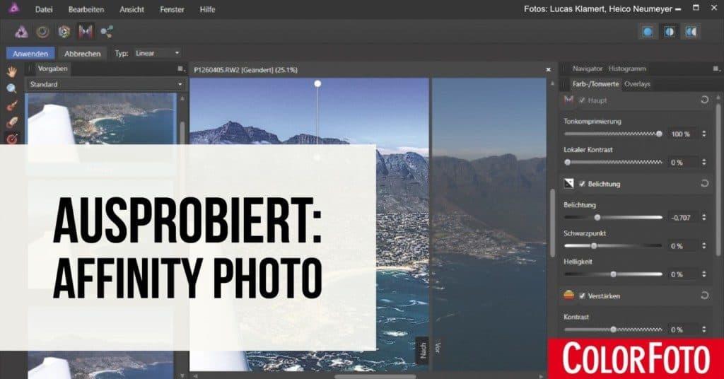 Ausprobiert: Affinity Photo