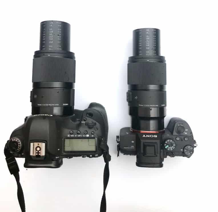 Zwei Versionen des SIGMA 70mm F2,8 DG MACRO | Art: Einmal für Canon, einmal für Sony