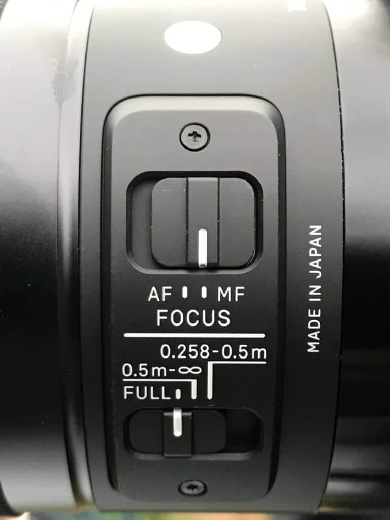 Der Fokuswahlschalter des SIGMA 70mm F2,8 DG MACRO | Art