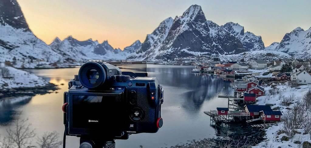 Seepanorama mit der FUJIFILM Mittelformat-Kamera