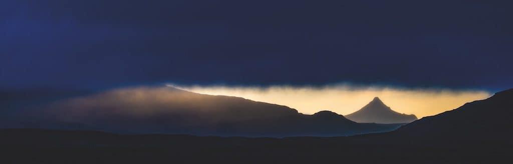 Island im Panoramaformat
