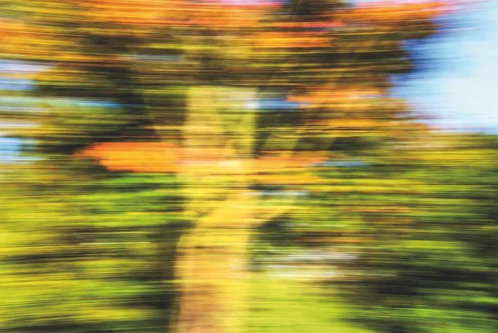 Herbstlaub in Langzeitbelichtung